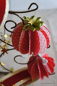 JULES BLOGS HERE: I made my Christmas ornaments from cupcake liners...includes tutorial