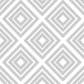 No Such Thing As Too Many Diamonds - White and Light Grey fabric by frontdoor on Spoonflower - custom fabric