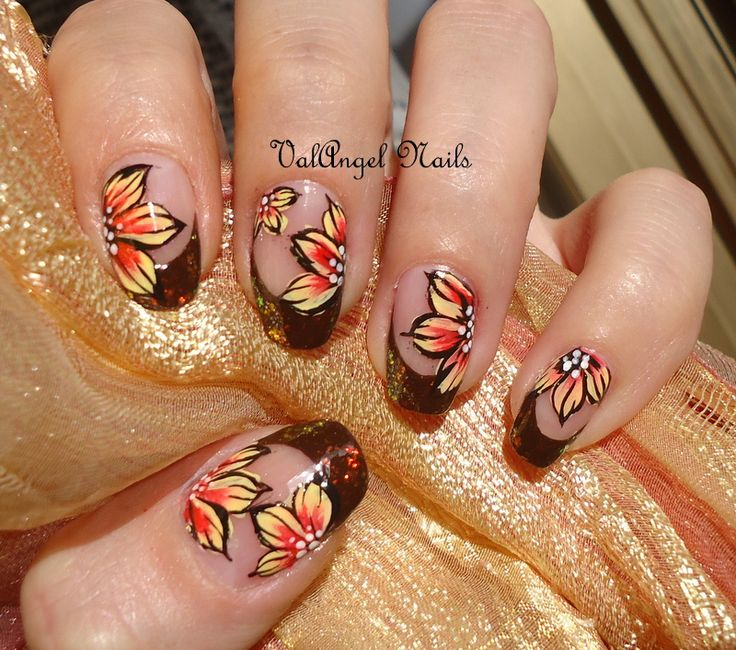 "Nail art ""Autumn Leaves"""