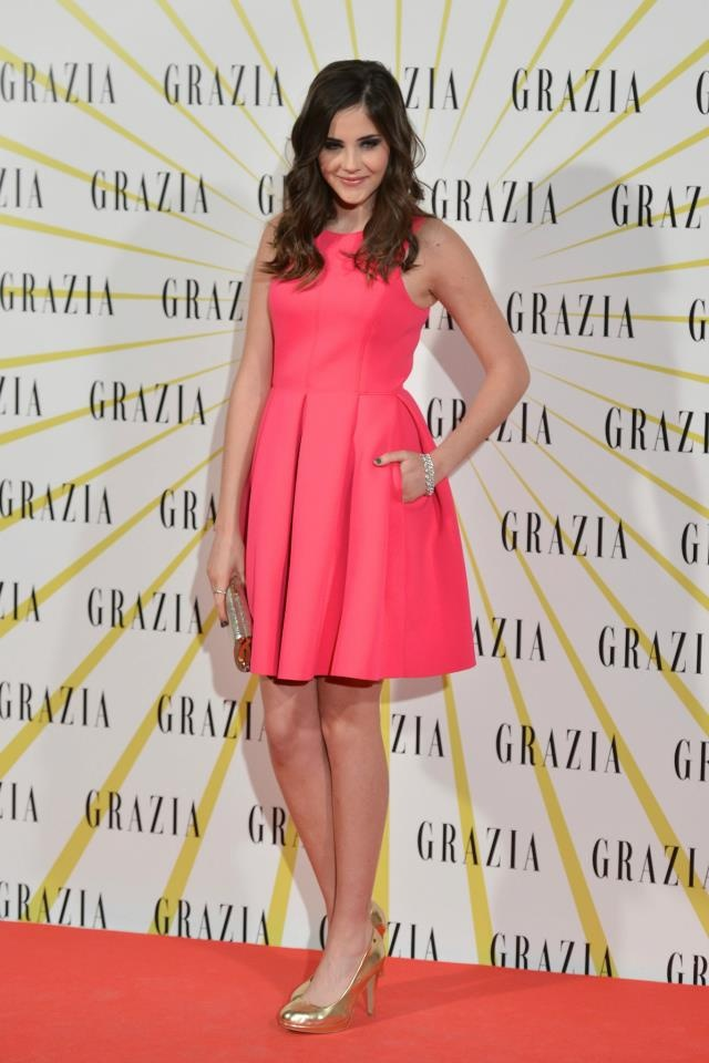 Lucía Ramos styled by ghd in Grazia´s launch party