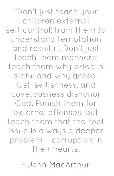I would replace the word punish with correct, but other than that a wonderful quote from John MacArthur