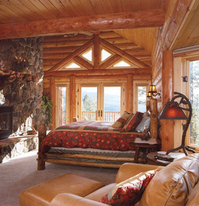 Cabin Bedroom Ideas: 1110 Best Images About Log Cabin Living On Pinterest