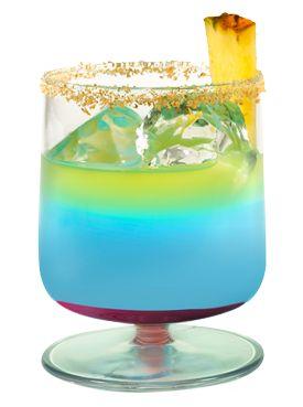 Hpnotiq Upside Down Cake (2 oz. Hpnotiq 1/2 oz. Vodka Splash of Pineapple Juice Touch of Grenadine) #drinks #cocktails #drinkrecipes