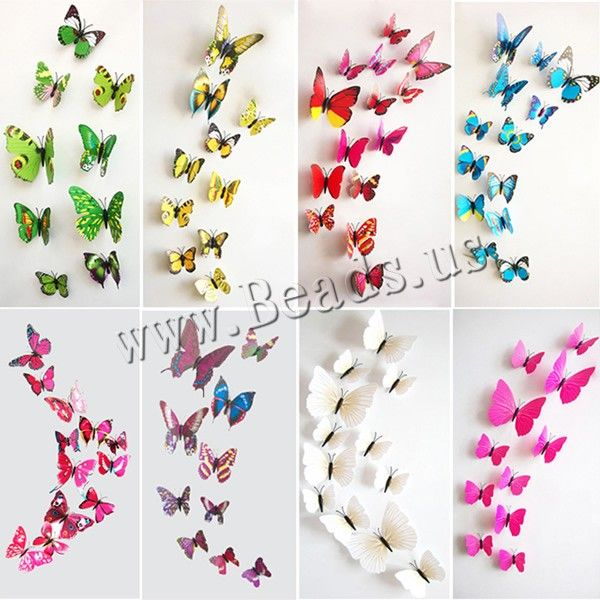 PVC Plastic Wall Stickers, different styles for choice & 3D, nickel