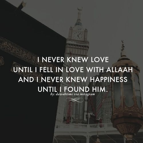 Fill in the blank: I never knew ______ until I knew Allah. ❤️