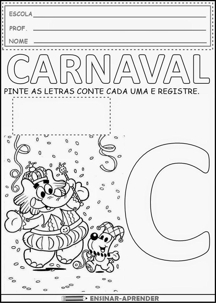Atividades De Carnaval Para Imprimir Cantinho Do Educador