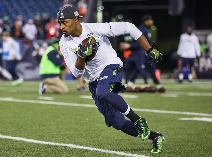 Seahawks vs. Patriots:  31-24, Seahawks  -  November 10, 2016  -  Wide receiver Doug Baldwin warms up before the game on Sunday. (Dean Rutz / The Seattle Times)