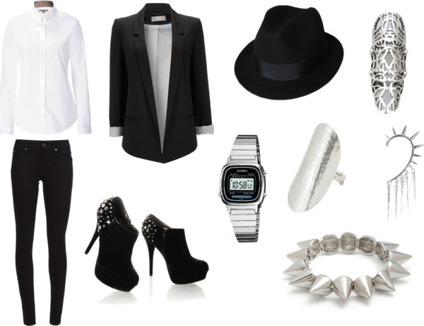 """silver night"" by raquelgrey on Polyvore"