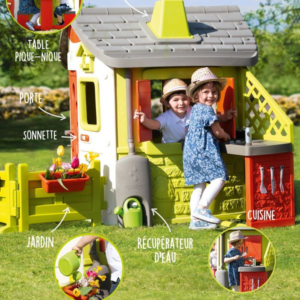 Maison de jardin neo jura lodge personnalisable - 7 accessoires à ...