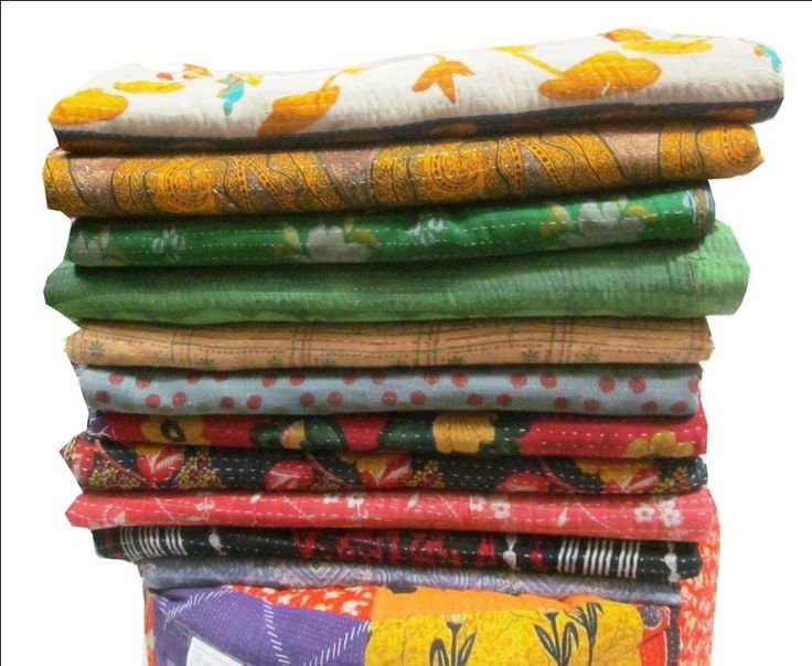 10 PC LOT Indian Quilt KANTHA THROW Vintage Bedspread Blanket Traditional Decor  #Handmade #Traditional