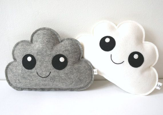 Cloud Pillow set of two, Neutral Gender Nursery, Baby decor, baby gift, nursery decor, cloud softie, newborn room decor, newborn gift idea