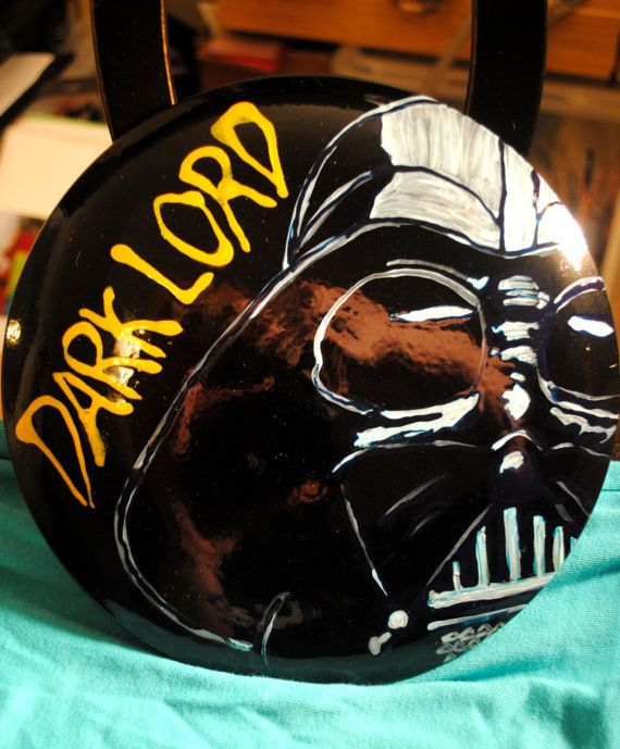 Oneofakind Disc Golf Disc with Darth Vader Dark Lord by Cannabella, $40.00