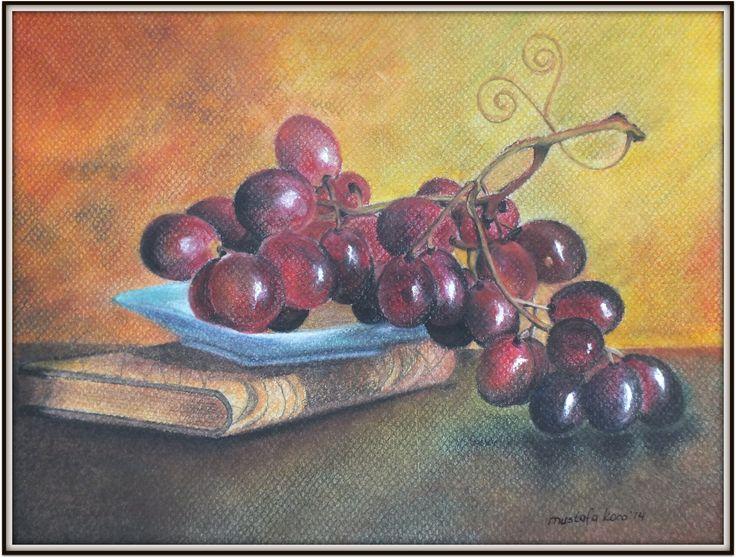 "Dry Pastel ""grapes"""