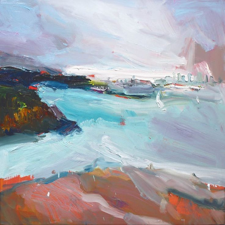 """Sydney From Camp Cove"" by Richard Claremont #modernart #artcollector #artistlife"