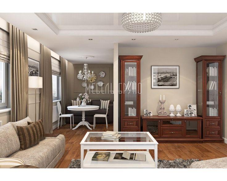 Мебель для гостиной  «Сириус» из массива дуба. Набор мебели, состоящий из двух узких книжных шкафов и тумбы – оптимальный вариант для обустройства небольшой комнаты http://www.shkafe.ru/product/%20gostinaja-sirius/