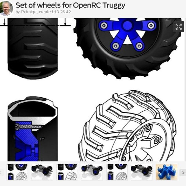 1/3 This one is for you @danielnoree and your cool Truggy. I had some time to kill on the plane back from Shanghai yesterday so why not contribute to the #OpenRC #Truggy project... STEP files included and with one tire without tracks so that you can add your own...http://www.thingiverse.com/thing:526969 #3Dprinting #3Dprinted #RC  #RCcar #thingalert #3dprint #3Dprinterfilament #elasticfilament #flexiblefilament #Thermoplasticpolyurethane #palmiga_innovation #rubber3dprinting