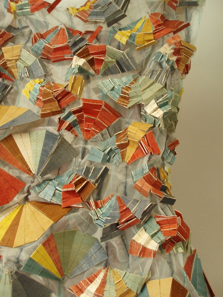 Textiles by Natasha Wodzynski beautiful folded structure
