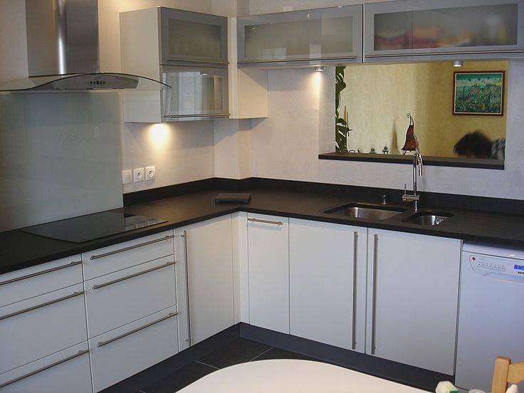 10 best Evier images on Pinterest Kitchens, White ceramics and - fixer plan de travail cuisine