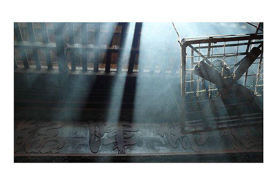 "Vietnam #Rusty. Original #Monochromatic Photography taken inside the Emperor Jade Pagoda in Ho Chi Minh City, #Vietnam, 20 x 30 cm (7,87"" x 11,81""). Black White Photography  for wall decor by CoCodeStudio, €20.00 Original Shot by Barbara Bisarello"