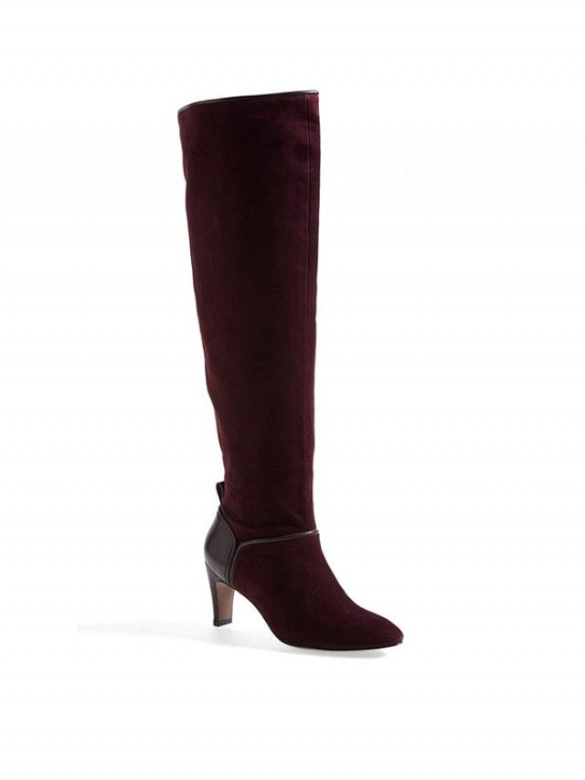 AUBERGINE BOOTS (Rosie Huntington-Whiteley Gets Us in the Mood For Fall via @WhoWhatWear)