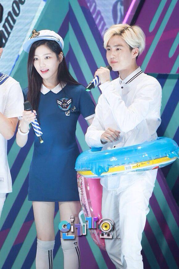 Exo Suho + Lee Yoo Bi
