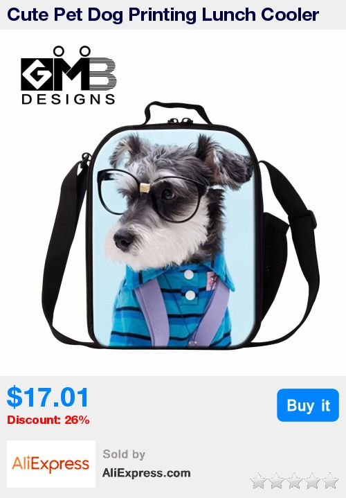 Cute Pet Dog Printing Lunch Cooler Bags for Children Girls Lunch Bags for School Insulated Lunch Container for Women Picnic bag * Pub Date: 07:32 Sep 21 2017