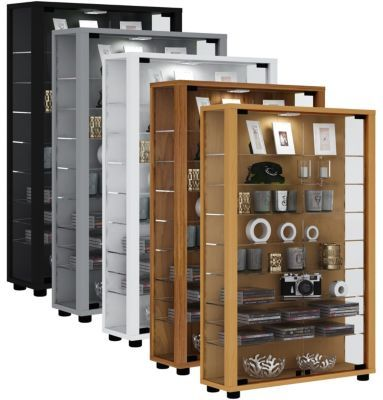 vcm sammelvitrine standvitrine glasvitrine glasregal. Black Bedroom Furniture Sets. Home Design Ideas