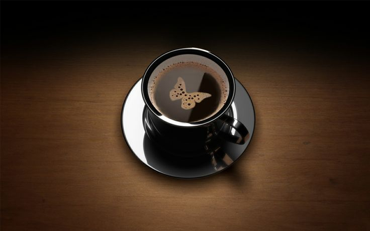 Butterfly: Coffee Al, Art Paintings, Art Desktop, Barist Art, Coffee Time, Black Coffee, Coffee Art, Art Photos, Memorial Art