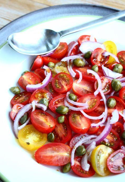 Tomatensalade met kappertjes en balsamico | Francesca Kookt