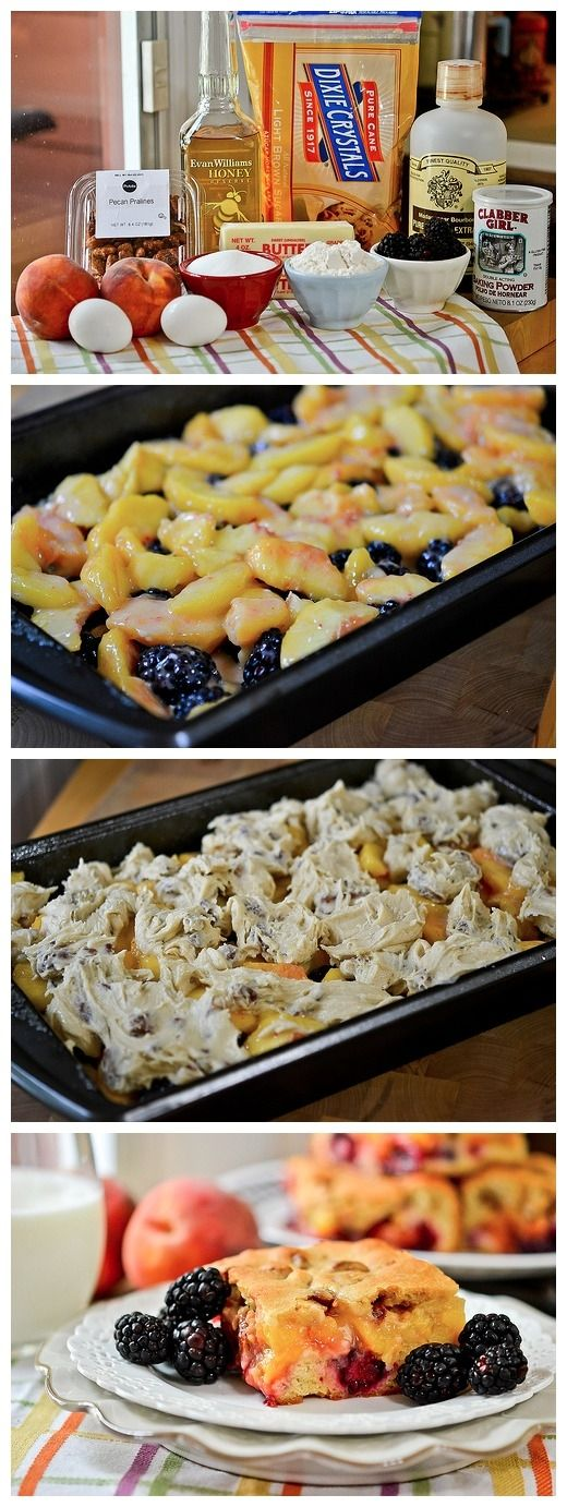 Blackberry-Peach Cobbler Bars Recipe