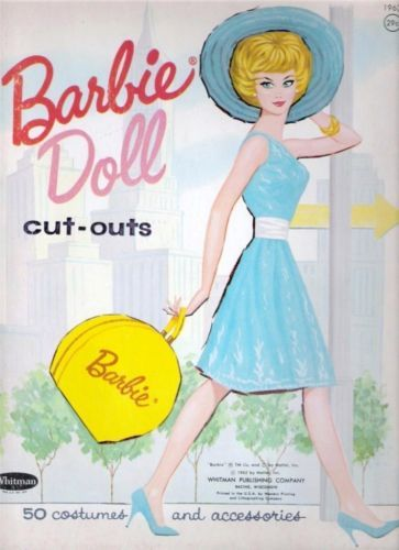 Barbie Paper Dolls - Cut Outs - yikes, no perferations here!