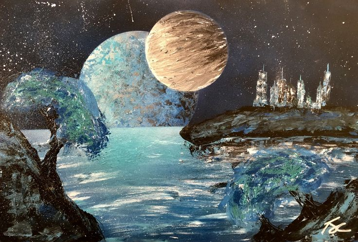 La planète de la solitude - Thomas Johnson-Constantin #art #alc #bdeb #college #cegep #peinture #painting #planet
