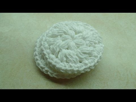 #Crochet Easy Washable Reusable Face Scrubby MakeUp Remover Pad #TUTORIAL - YouTube. Just made two of these.