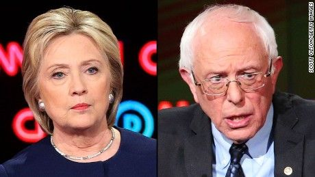 Former Secretary of State Hillary Clinton and Vermont Sen. Bernie Sanders meet for a Univision Democratic presidential debate simulcast on CNN.