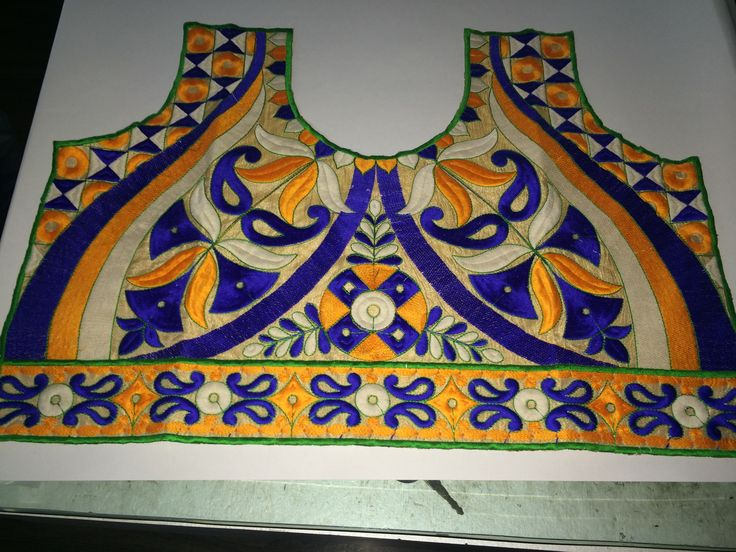 Embroidery neck