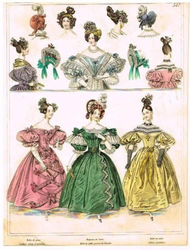 034-Modes-de-Paris-034-034-ROBE-EN-SATIN-GARNIE-DE-BLONDE-034-Hand-Colored-Eng-1852