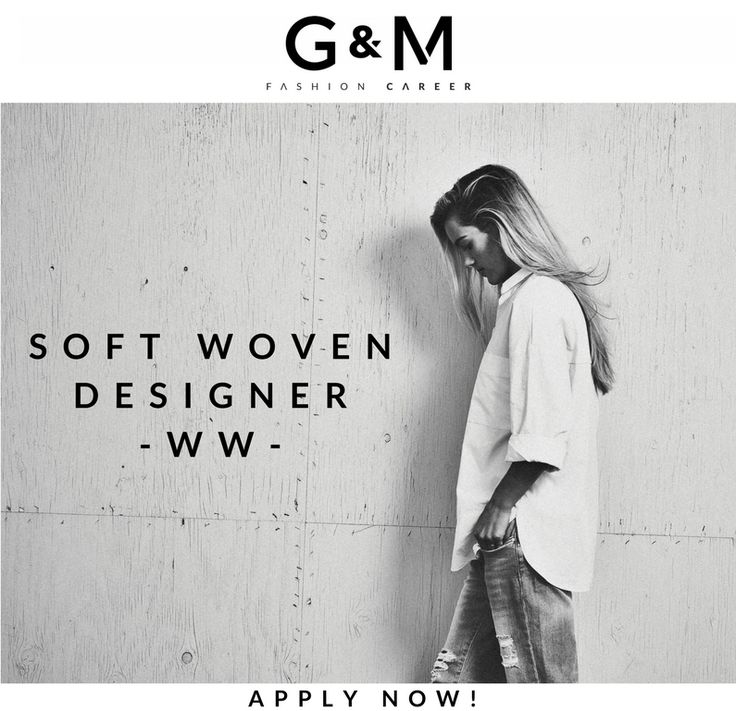We are currently recruiting for a Soft #Woven #Designer to join one of the