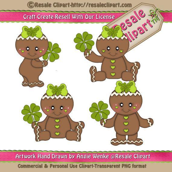 St. Patrick Ginger Girls Clipart Digital Download ZIP by MaddieZee, $1.50