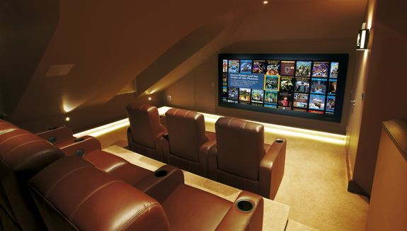 A home cinema is a great option when considering a loft conversion.