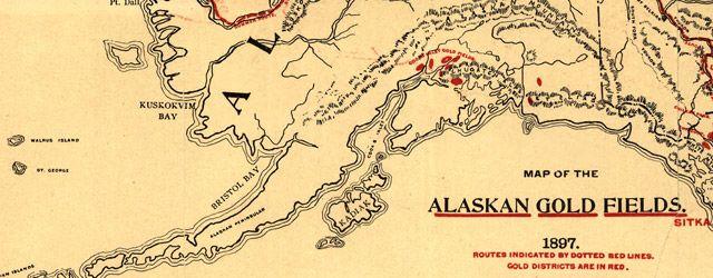Lee's #Map of the Alaskan gold fields (1897) #Alaska #gold