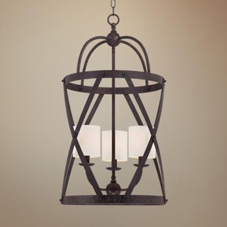 "Franklin Iron Works Alder 15 1/2"" Wide Bronze Pendant Light - #Y2324 | LampsPlus.com"