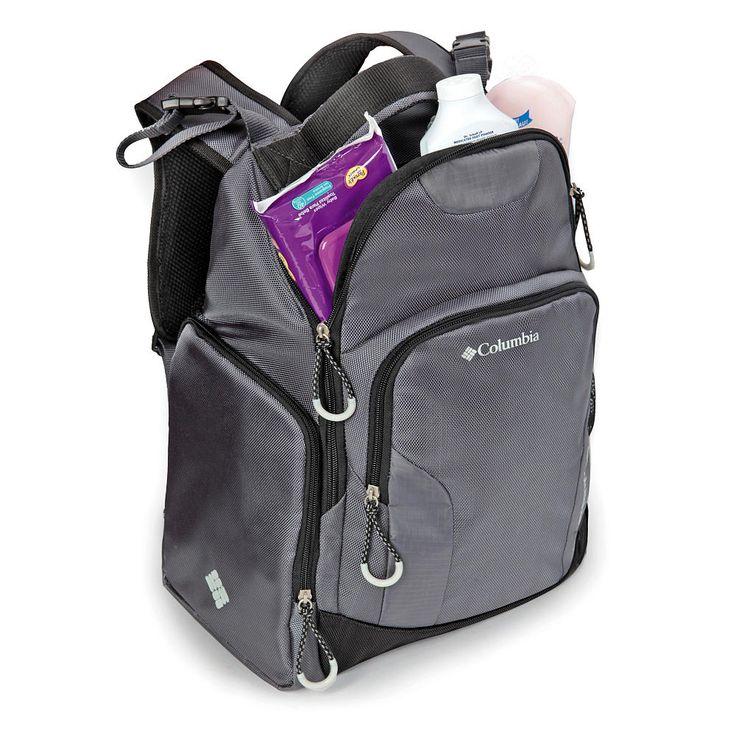 Columbia Summit Rush Backpack Diaper Bag - Grey | BabiesRUs