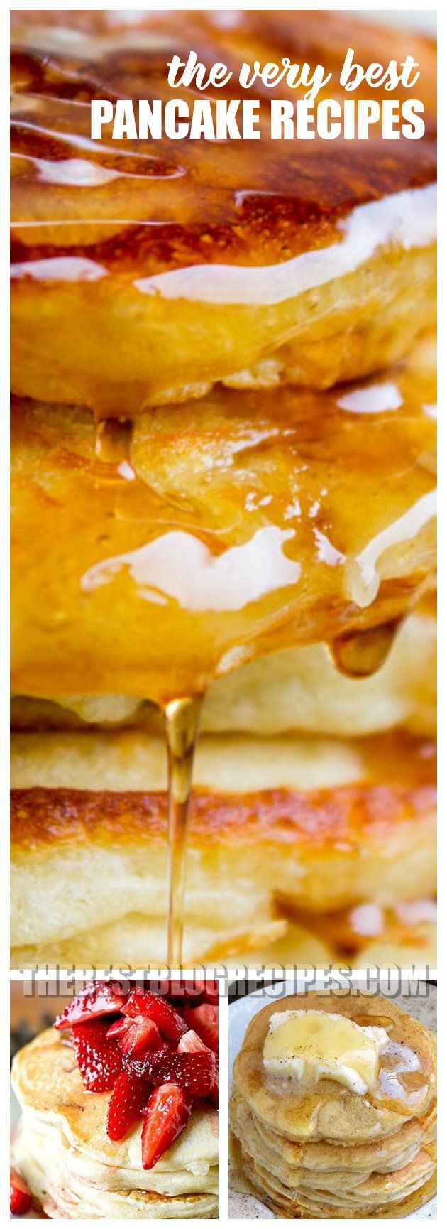 For tasty breakfast treats and lazy morning meals you need to try The Best Pancake Recipes! These recipes are the most delicious pancakes out there, and we know they will become your new breakfast favorites! via @bestblogrecipes