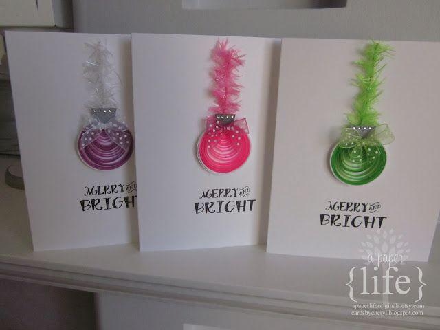 ~ Жизнь бумаги: Веселые и яркие гофрированный рождественские открытки