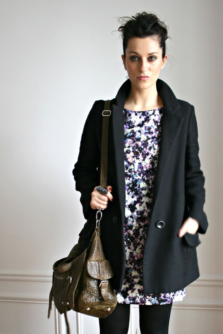 Iro coat / H&M dress / Great by Sandie bag / Forever 21 ring
