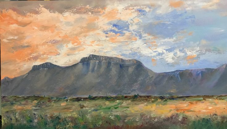 """Sunrise over the Karoo"" ('Renosterberg' between Middelburg and Graaff-Reinet, Eastern Cape, South Africa)"