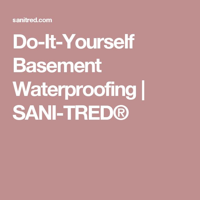 Sani Tred Basement Waterproofing Reviews Part - 48: SANI-TRED Is A Proprietary Do-it-yourself Basement Waterproofing Product  That Has A Variety Of Uses. See The Multitude Of Applications Documented  Online ...