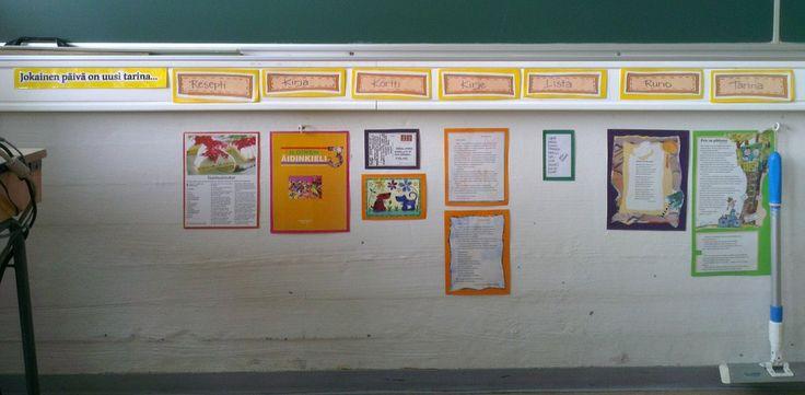 """""""Erilaisia kirjoituskohteita"""" - toteutus luokassa. Otsikot löytyvät täältä: http://www.pinterest.com/pakkanem/%C3%A4ikk%C3%A4-kirjoittaminen-kertominen/"""