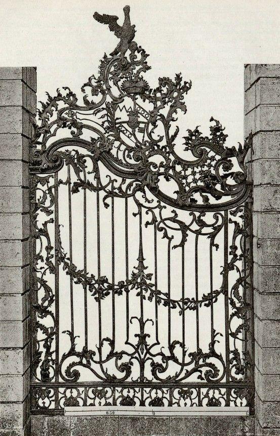 25 best ideas about iron gate design on pinterest for Iron garden gate designs