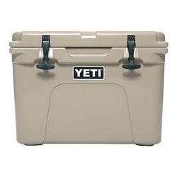 The YETI Tundra 35 Cooler is the ultra-portable model of our Tundra line, small enough to easily carry while still packing in the recommended 20 cans. It's the best road trip companion you'll ever meet — some people even refer to it as their YETI Car Seat. Thanks to 2 to 3 inches of cold-retaining insulation and extra-thick walls made from UV-resistant polyethylene, this cooler will keep your ice icy.